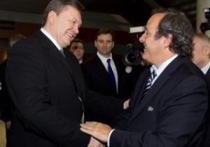 Фотогалерея: Французский связной. Янукович и Платини проинспектировали Львов