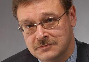 Косачев: Слова Януковича про російську мову невірно інтерпретовані російськими ЗМІ