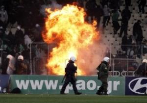 За беспорядки в дерби Панатинаикос лишили очков, оштрафовали и оставили без болельщиков