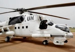 У ДР Конго обстріляли український вертоліт, поранений миротворець