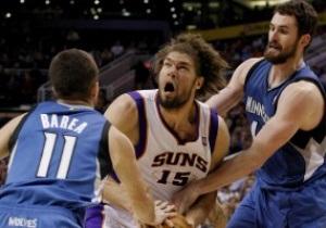 NBA: Миннесота и Финикс набросали 251 очко на двоих