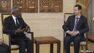 Кофі Аннан передав Башару Асаду  конкретні пропозиції