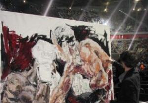 Картину боя Кличко - Мормек продадут на благотворительном аукционе