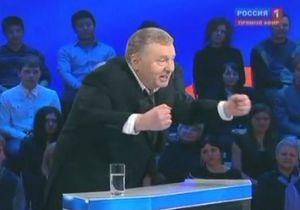 Жириновський на дебатах з Прохоровим влаштував скандал з Пугачовою