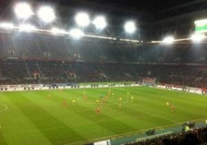 С прицелом на Мормека. Кличко побывал на футбольном матче в Дюссельдорфе