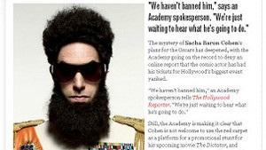 Саші Барону Коену в образі диктатора не забороняли йти на вручення Оскарів