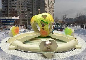 У Києві на Позняках з явиться фонтан у формі яблука