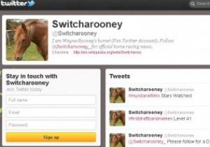 Уэйн Руни завел Twitter своему коню