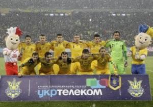 Сборная Украины потеряла пять позиций в рейтинге FIFA