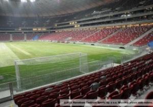 Ворота на Национальном стадионе в Варшаве не соответствуют общепринятому стандарту