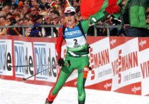 Биатлон: Домрачева выиграла масс-старт в Антхольце, Вита Семеренко - шестая