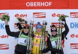 Биатлон. Семеренко вошла в десятку на этапе в Оберхофе