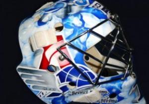 Вратарь московского Динамо нанес на шлем рисунок в память о погибших хоккеистах Локомотива