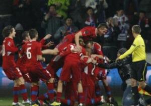Сборную Чехии оштрафовали за празднование выхода на Евро-2012