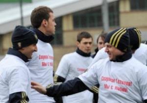 Сборная России провела акцию в поддержку избитого в Грозном футболиста