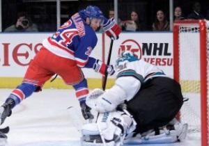 NHL: New York Rangers разобрались с San Jose Sharks