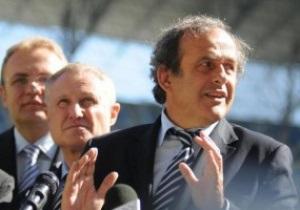 Платини: Еще летом понял, что Украина успевает готовиться к Евро-2012