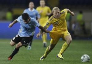 Фотогалерея: Урок от чемпионов. Украина уступила Уругваю