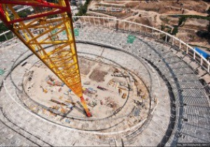Фотогалерея: Вид сверху. Репортаж о работе подъемного крана на НСК Олимпийский