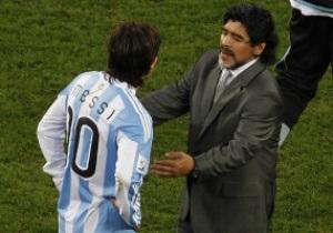 Марадона вступился за Месси: Несправедливо, что все эти идиоты пытаются его ударить