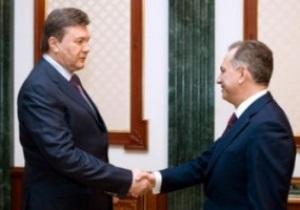 Янукович и Колесников обсудили вопросы подготовки к Евро-2012