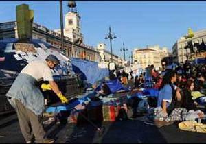 У Мадриді попри заборону уряду розростається акція протесту