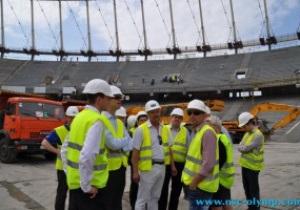 Эксперты UEFA довольны темпами реконструкции НСК Олимпийский