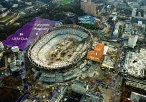 Возле НСК Олимпийский обустроят Зону гостеприимства UEFA