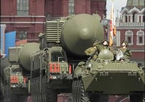 Ракети й танки на параді у Москві