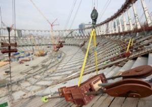 Фотогалерея: Под колпаком. На Олимпийском устанавливают вантовую систему крыши