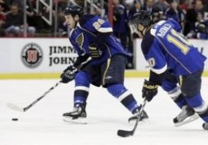 NHL: Блюзмены уничтожили Детройт