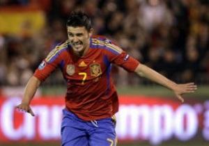 Вилья стал лучшим бомбардиром сборной Испании