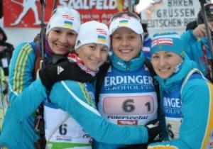 Украинки выиграли золото Чемпионата Европы по биатлону