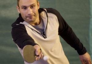 Фотогалерея: Пинг-понг для Солиса. Виталий Кличко готовится к бою с кубинцем