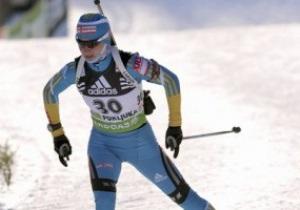 Биатлон: Валя Семеренко стала третьей в спринте
