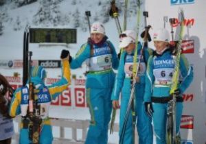 Оберхоф: Украинки упускают медали в эстафете