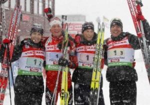 Хохфильцен: Сборная Норвегии победила в мужской эстафете, украинцы - шестые