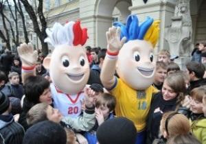 Фотогалерея: Гости дорогие. В Украину приехали талисманы Евро-2012