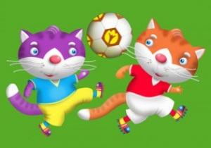 Кіт и Кот. Неофициальными талисманами Евро-2012 могут стать коты-футболисты