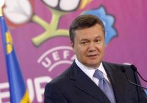 Янукович сподівається на вихід збірних України та Польщі до фіналу Євро-2012