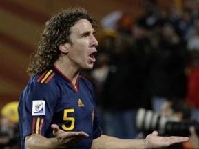 Пуйоль завершил карьеру в сборной Испании