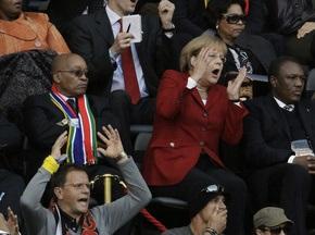 Ангела Меркель прогнозує перемогу збірної Німеччини у сьогоднішньому матчі