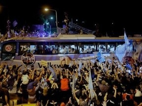 Сборную Аргентины на родине встретили как победителей