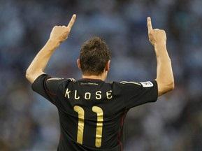 Клозе забив 51-й і 52-й м ячі за збірну Німеччини