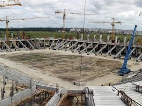 Строительство львовского стадиона идет ударными темпами