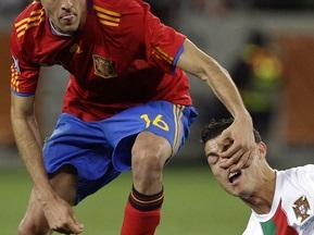 Фотогалерея: Роналдо безутешен. Испания выходит в четвертьфинал
