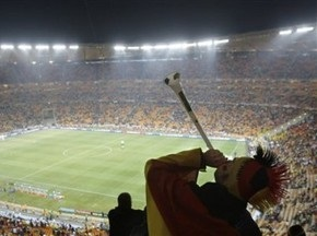 Німецький вболівальник побив поліцейського вувузелою