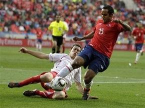 Чили минимально побеждает Швейцарию