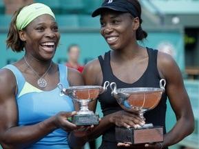 Сестры Уильямс побеждают на Roland Garros  в парном разряде
