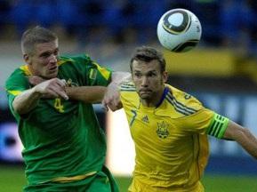 Украина разгромила Литву в первом матче Маркевича